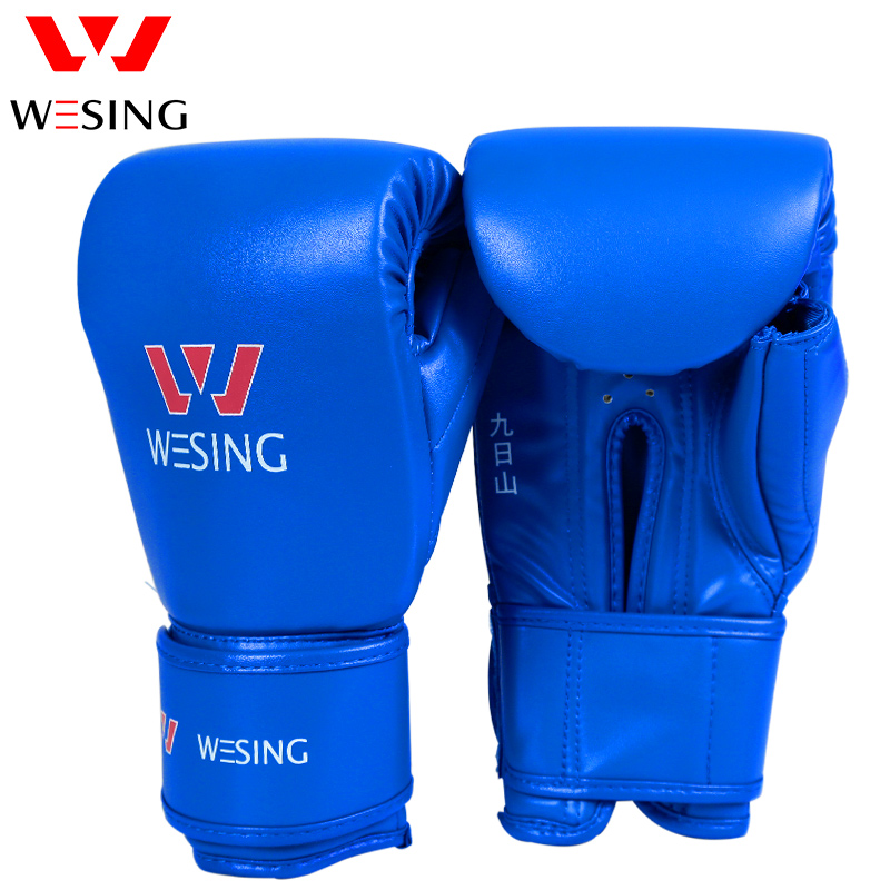 WESING Punching Bags Boxing Gloves Mitts for Athletes Training Breathable Punching Sandbags Kickboxing Martial Arts Gloves 10 Oz все цены