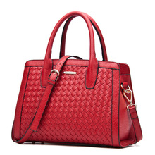 Vogue of new fund of 2016 autumn female bag shoulder hand woven bag worn ladies bag