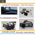 "In Car 4.3"" Color LCD Monitor + Car Rear Back Up Camera = 2 in 1 Park Parking System - For Mitsubishi Colt Plus"