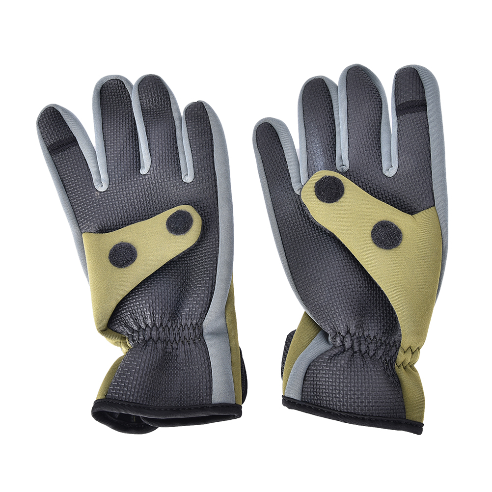 2017 neoprene winter fishing glove anti slip men for Neoprene fishing gloves