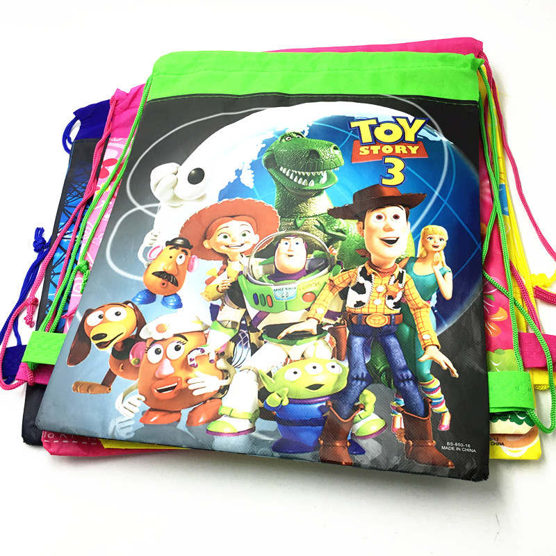 12pcs/lot Toys Story drawstring bags cartoon design