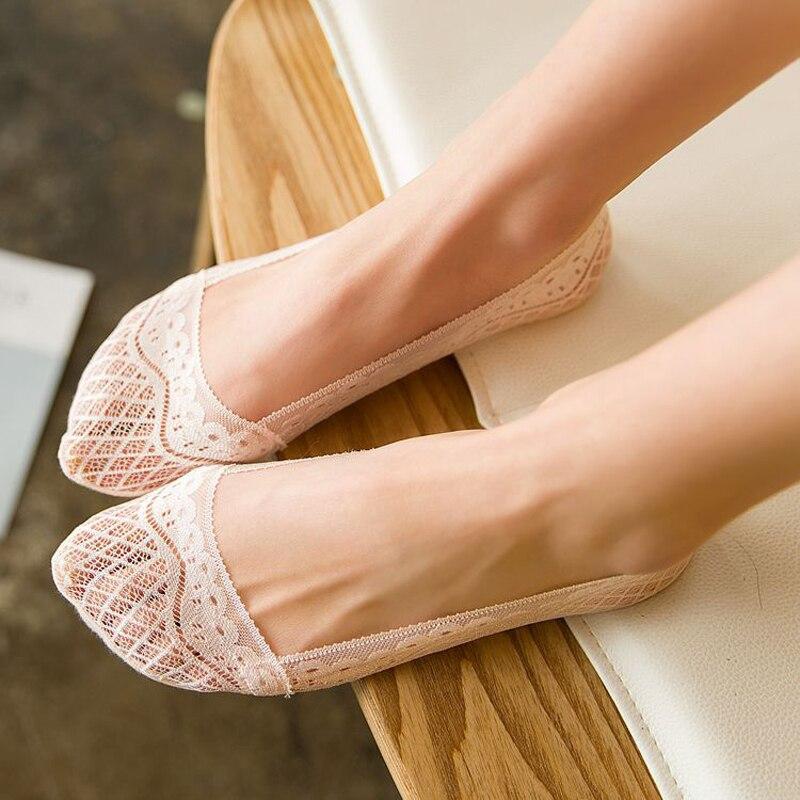6 шт., 3 пары, женские кружевные носки
