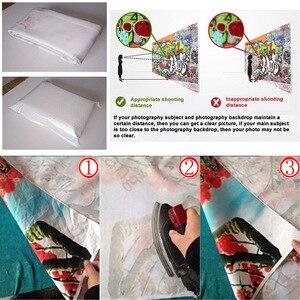 Image 5 - Beignets colorés bonbons fanion blanc planche de bois Photo fond vinyle décors pour enfants bébé douche photographie Photocall