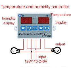 2 in 1 Digital display Temperatur feuchtigkeit Controller thermostat Feuchtigkeit control mit Sensor AC110-220V