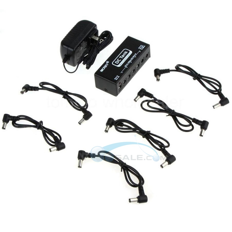 mosky dc tank mini pedal power supply with 6 isolated outputs for six 9v pedals simultaneously. Black Bedroom Furniture Sets. Home Design Ideas
