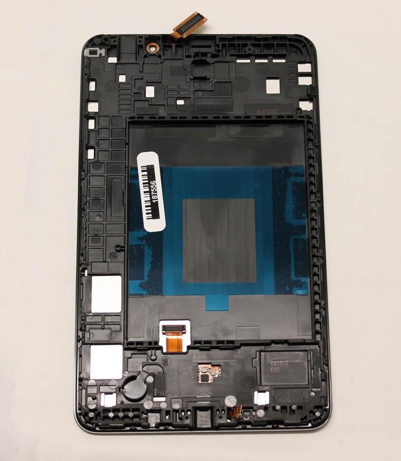 Noir/Blanc Pour Samsung Galaxy Tab 4 7.0 T230 SM-T230 Écran Tactile Capteur Digitizer Verre + LCD Panneau D'affichage avec Cadre Lunette