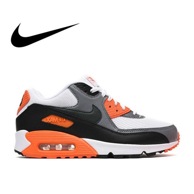 best sneakers dd941 b5ca0 Original de los hombres NIKE AIR MAX 90 esencial zapatos para correr  zapatillas de deporte transpirables