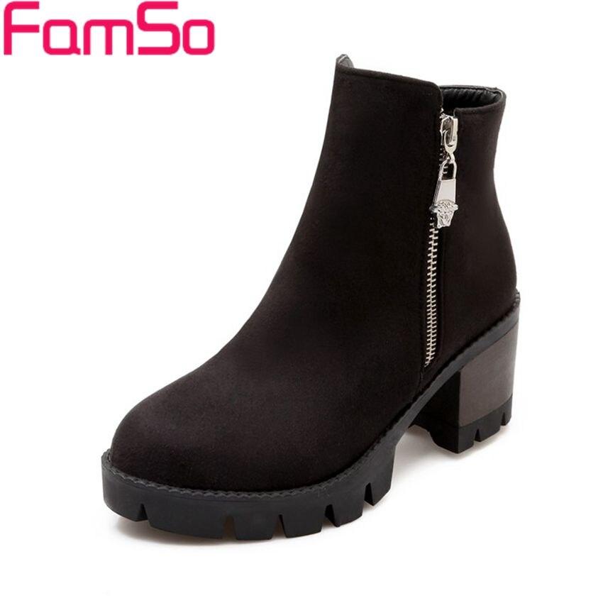 Free shipping 2016 New Sexy font b Women b font Boots Black Spring High Thick heels
