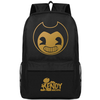 Bendy And Ink Backpack Boys Girls Luminous Option Schoolbag Gifts