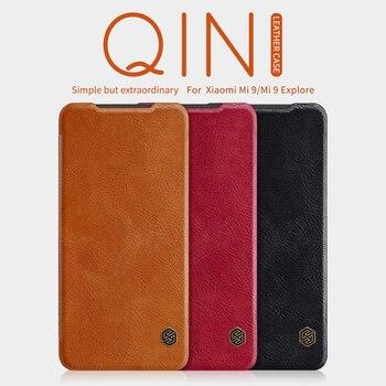 For xiaomi mi9 mi 9T mi10 case redmi note 9pro Nillkin Qin PU Luxury Flip leather back cover wallet case for Redmi Note 7 Note 8