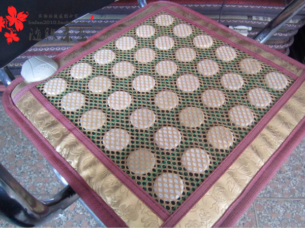 Free Shipping! Natural Tourmaline Mat Germanium Stone Yoga Pad Health Care Mat Infrared Heat AC220v 45X45CM For Sale
