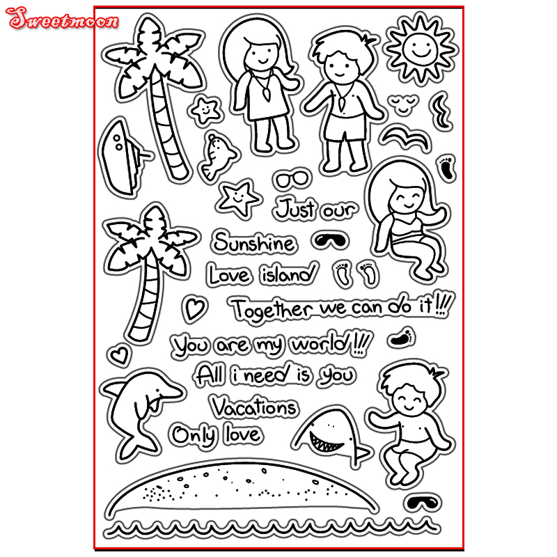 SUNSHINE LOVE ISLAND ONLY LOVE ALL Scrapbook DIY photo cards account rubber stamp clear stamp transparent stamp card SWEETMOON you can shine got bot all boy scrapbook diy photo cards account rubber stamp clear stamp transparent stamp handmade card stamp