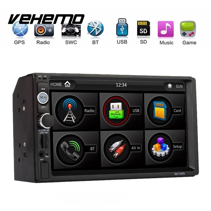 Vehemo 2 DIN Сенсорный экран HD автомобиля mp5 mp5-плеер Радио громкой связи Смарт