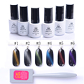 1 Bottle 5ml BORN PRETTY Cat Eyes Gel Soak Off UV Gel Polish with Magnet Board