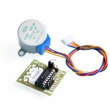 5V 4-фазный 28YBJ-48 DC Шестерни шаг 1 шт. шаговый двигатель+ 1 шт. ULN2003 драйвер платы ULN2003 для Arduino PIC MCU DIY