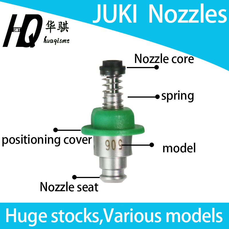 JUKI nozzle 500 501 502 503 504 505 506 507 508 509 510 SMT spare parts used for chip mounter, high quality, run very well