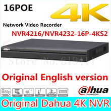 Original Dahua English version NVR4216-16P-4KS2/NVR4232-16P-4KS2 16/32 Channel 1U 16PoE 4K H.265 Lite Network Video Recorder