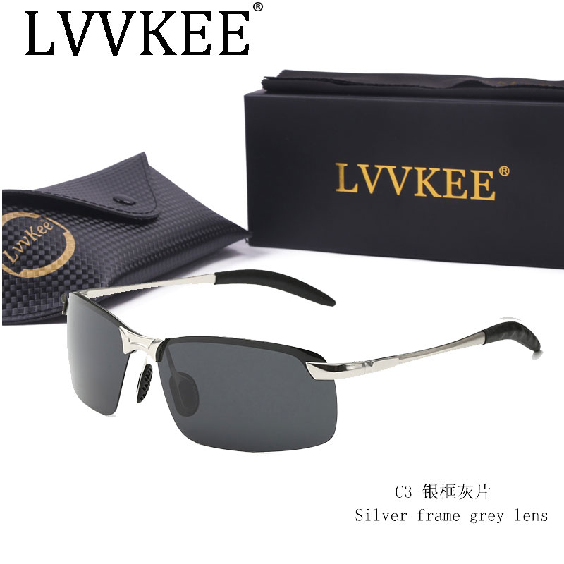 LVVKEE classics Hot Brand Designer Polarized Men Sunglasses Male Driving Rimless Sun Glases For Women Uv400 Eyewear oculos de ...