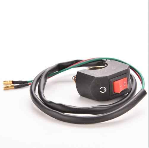 "Jetting 7/8 ""Stang On/Off Peluru Konektor 12 V DC Listrik Sistem 1 PC Hitam Motor Switch"