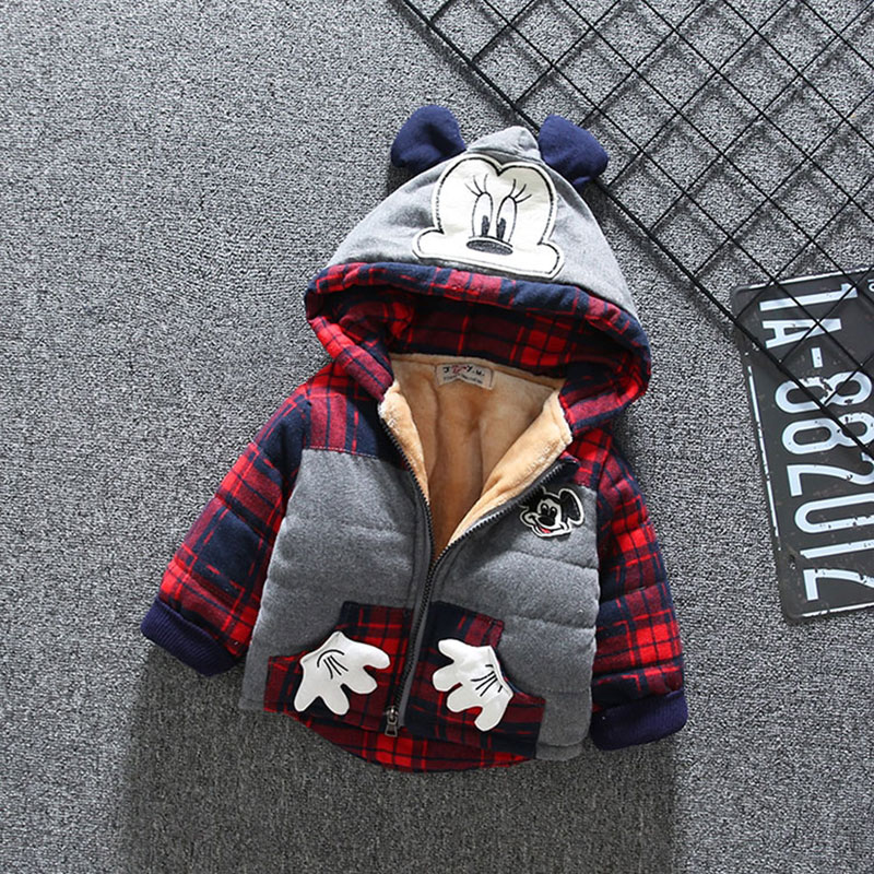 Baby Girl Boy Cartoon Down Hooded Jackets Cute Warm Winter Outerwear Newborns Coats Toddler Clothing Infant baby boy Clothes стоимость