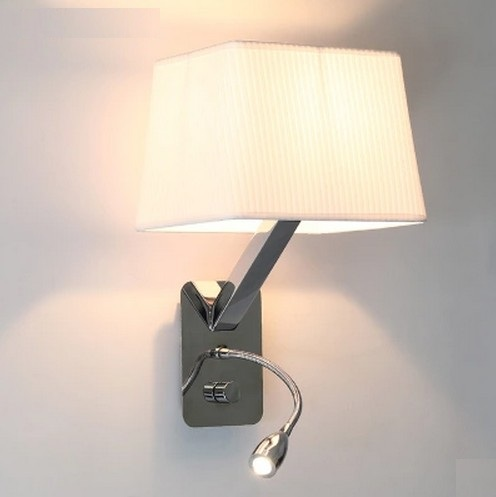 Creative Fabric Wall Sconces Band Switch Modern LED Reading Wall Light  Fixtures For Bedroom Wall Lamp Home Lighting Lamparas in Wall Lamps from  Lights. Creative Fabric Wall Sconces Band Switch Modern LED Reading Wall