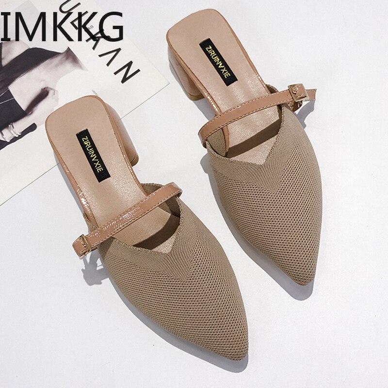 Summer Women Sandals platform heel Leather hook loop metal Soft comfortable Wedge shoes ladies casual sandals V284