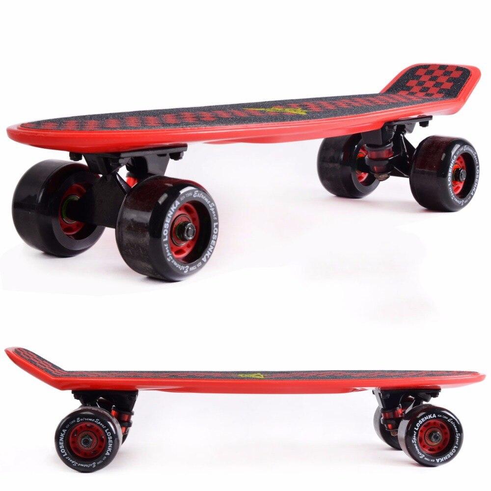Prix pour 2016 améliorée pastel couleur banane peny conseil mini cruiser longue planche à roulettes quatre roues pnny style rue roues de longboard skate