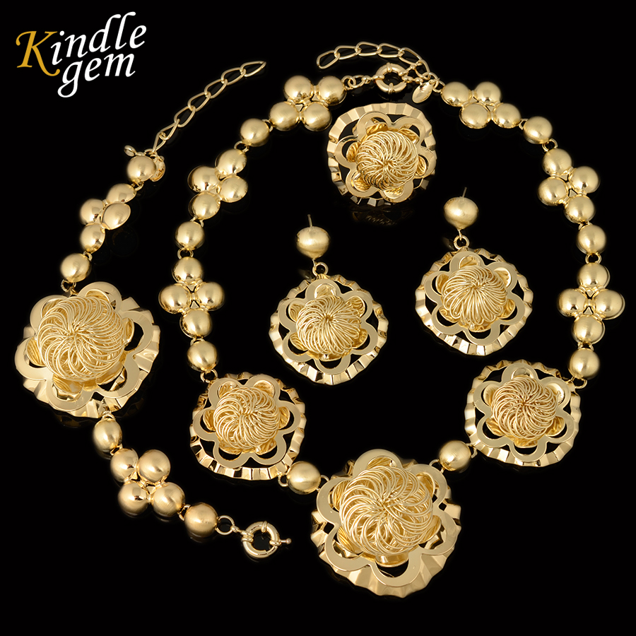 04b940289c4 2017 High Fashion Top Quality Gold Plated Pretty ...US $20.00. New Fashion  Big African Beads Jewelry ...