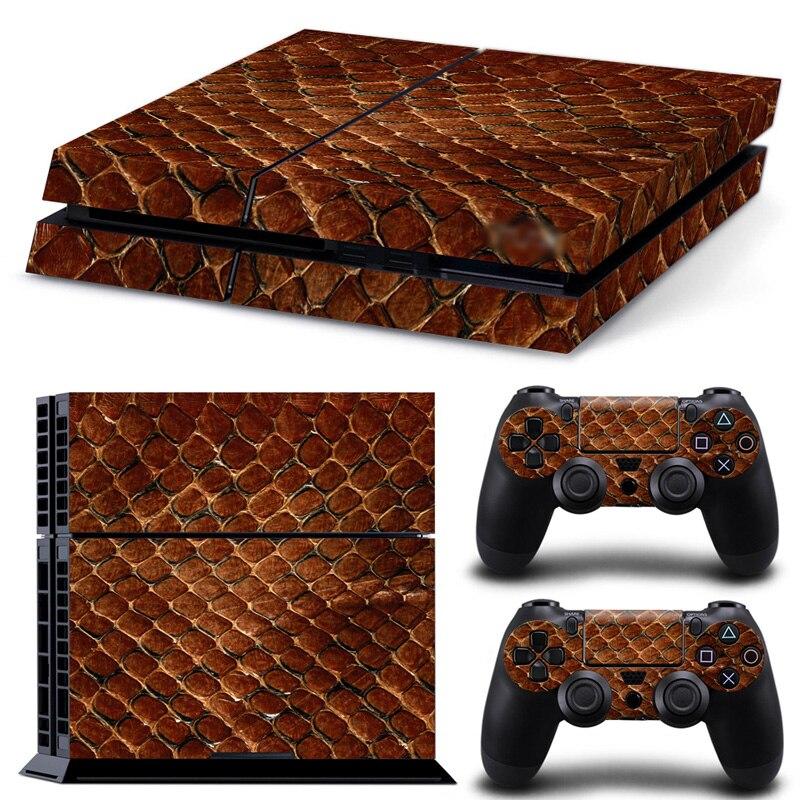 """Nemokamas lašas, kaip ir """"Leopard"""" dizainas, skirtas """"PS4 Console"""" ir """"Two Controller Skin"""" lipdukui # TN-PS4-0066"""