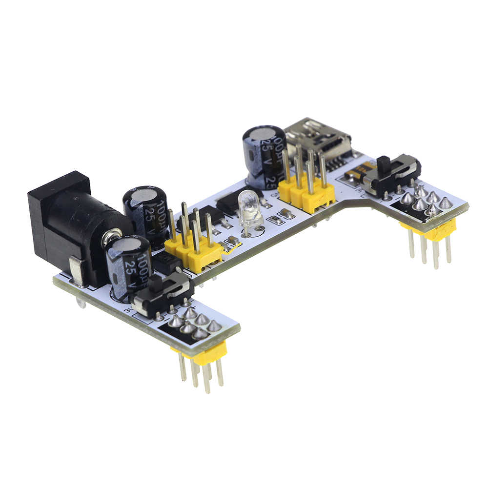 Thinary MB-102 โมดูล 2 ช่อง Board MB102 DC 7-12 V Micro USB Interface Breadboard Power Supply โมดูลสำหรับ arduino Diy Kit