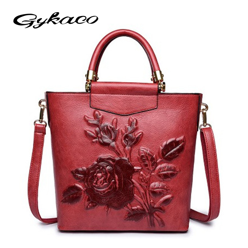 Gykaeo Designer Handbags High Quality Luxury Handbag Women Bags Designer Fashion PU Leather Messenger Shoulder Bag Ladies Tote women messenger bags designer handbags high quality 2017 new belt portable handbag retro wild shoulder diagonal package bolsa