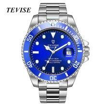 Часы для мужчин Элитный бренд TEVISE модные водостойкие Кварцевые спортивные часы Stianless сталь наручные часы мужской Relogio Masculino