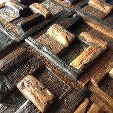 3d 100% de madera natural de madera azulejos de mosaico patrón aleatorio, baldosa de madera natural, la pared posterior, decoración de la pared, HME4041, envío gratis