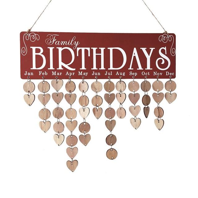 Wooden Family Birthday Calendar Board Diy Friends Birthday Calendar