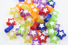 Freeshipping!200pcs/10mm Multi-color Acrylic Jelly Color Star Miracle /Perles Bead For Necklace & Bracelets DIY