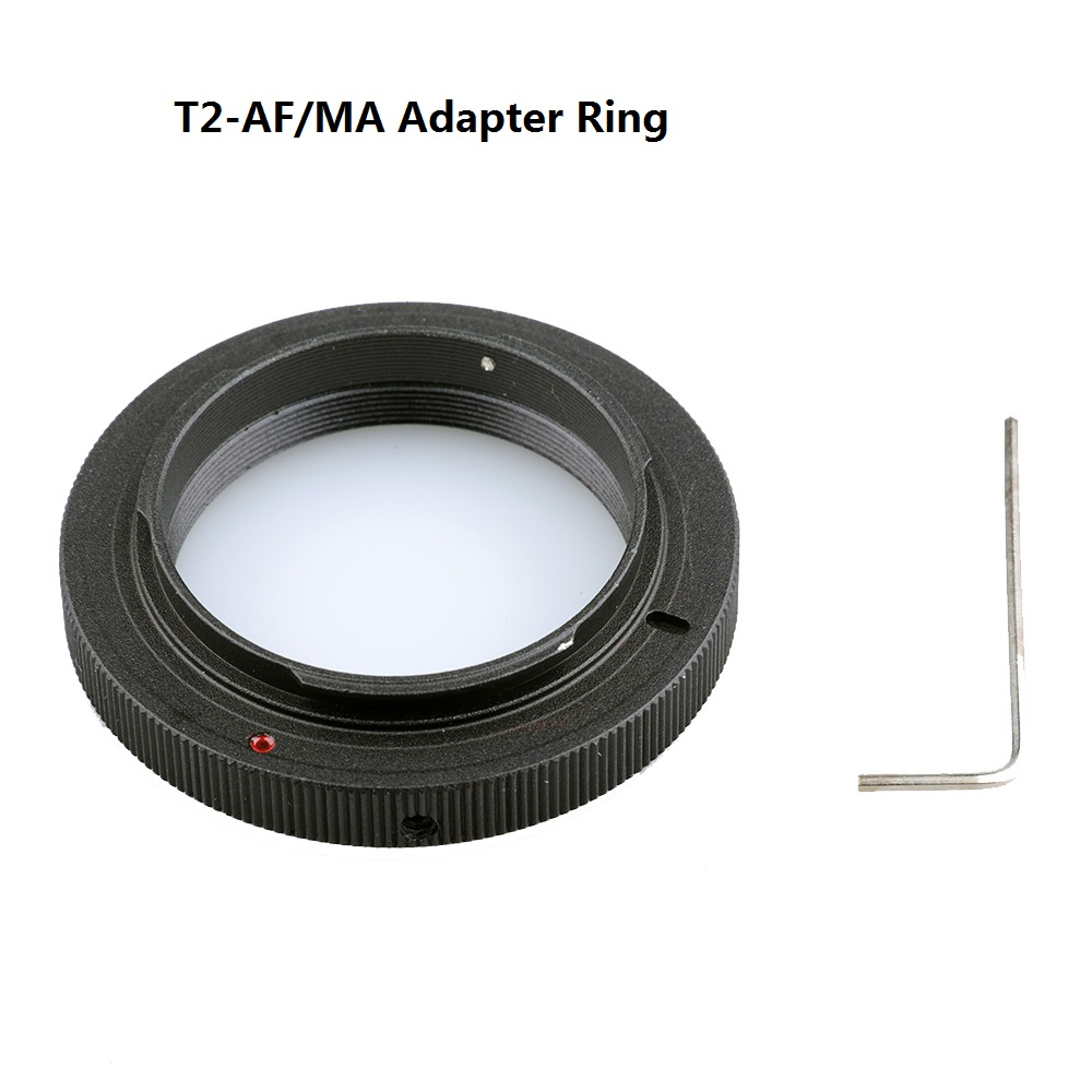 Black Aluminum T-mount T2-AF T2-MA <font><b>Lens</b></font> Adapter Ring for <font><b>Sony</b></font> DSLR Cameras A77 A280 A290 A380 A390 A580 A590 A200 <font><b>A230</b></font> image