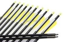 Longbowmaker 12PCS 32 Inches Fiberglass Target Practice Arrows F2YWT2