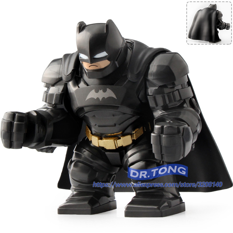 20pcs/lot Building Blocks Super Heroes Avengers Infinity War Big Size Action Figure Armored Batman Thanos Bricks Toys 0295 single sale pirate suit batman bruce wayne classic tv batcave super heroes minifigures model building blocks kids toys gifts