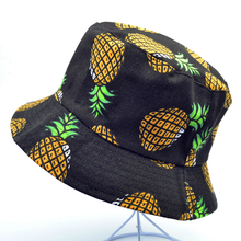 New Fashion Pineapple Printed Bucket Hats Women Men Lovely Summer Casual fisherman hat Fishing Panama Caps