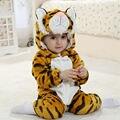 Novo Estilo Bonito Do Tigre de Bebê Meninos Macacão de Bebê Com Capuz Macacão Marca Conjuntos de Roupas Menino Manga Longa Romper Do Bebê do bebê para 0-2 Anos