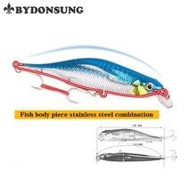 BYDONSUNG 10.5cm 11g Minnow Arduous Bait Fishing Lure Sinking Arduous Bait High quality Crankbait Pesca Wobbler Winter Fishhook
