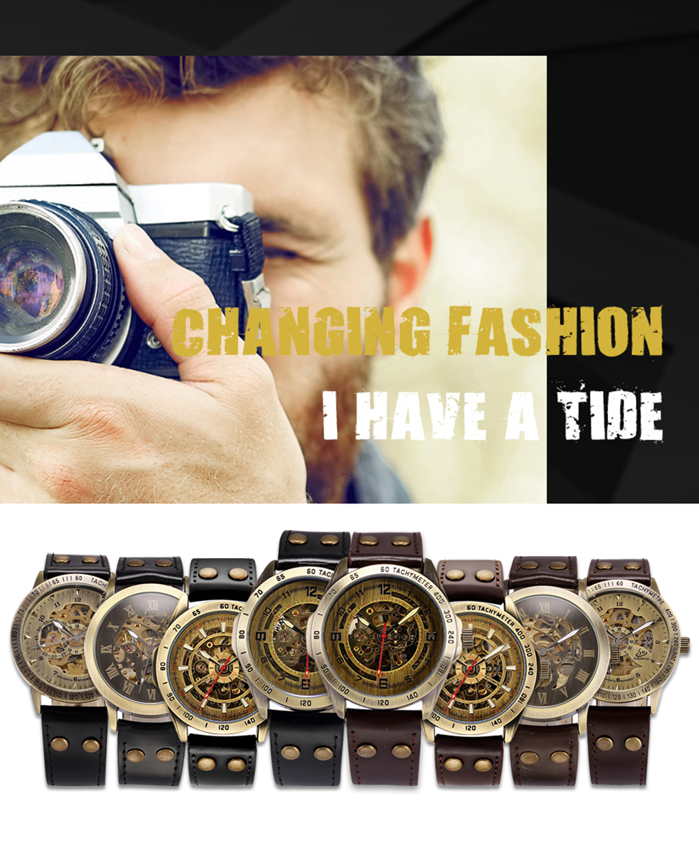 HTB1t1BKP6TpK1RjSZKPq6y3UpXaw Skeleton Mechanical Watch Automatic Watch Men Steampunk Bronze Transparent Mens Automatic Mechanical Watches Clock montre homme