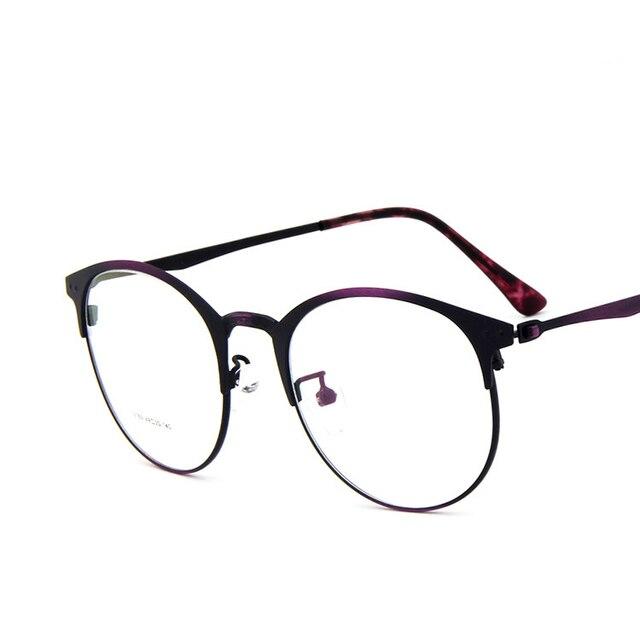 7bd50cb846 Llanta delgada redonda Vintage/retro Full Metal prescripción óptica ojo  Gafas marcos hombres miopía Gafas