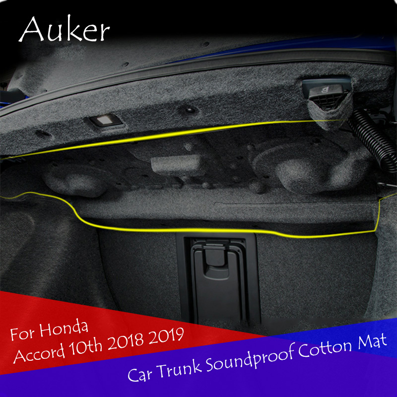Car Styling Car Trunk Soundproof Cotton Mat Sticker Protection 1Pcs/Set For Honda Accord 10th 2018 2019Car Styling Car Trunk Soundproof Cotton Mat Sticker Protection 1Pcs/Set For Honda Accord 10th 2018 2019