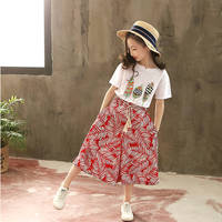 Children Girls 's Clothing Baby T Shirt Wide Leg Pants Two Piece Set Toddler Suit Clothes