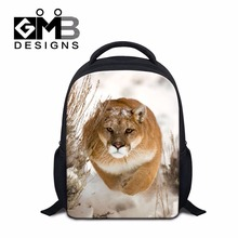 Dispalang Small 12inch Children School Bags White Tiger Leopard Print Kindergarten Book Bag Kids Shoulder