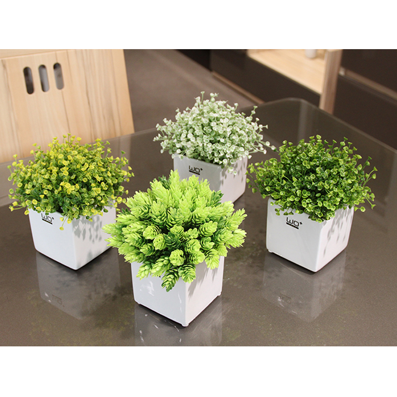 Top Quality Pineapple Grass Simulation Small Bonsai Set Artificial Plant Flowers Green Plant Pot Culture Wedding Home Decor