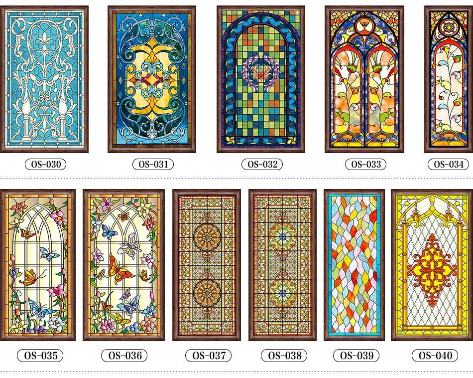 Formato personalizzato static cling glassato stained glass window film chiesa foglio di adesivi per porte IN PVC di auto-adesivo finestra adesivi 40x100 centimetri