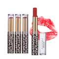 Gold Leopard Thin Pupe Lipstick Lip Gloss Waterproof Long Lasting Moisturizing Lip Balm Lip Cosmetic Makeup Device 12pcs/set