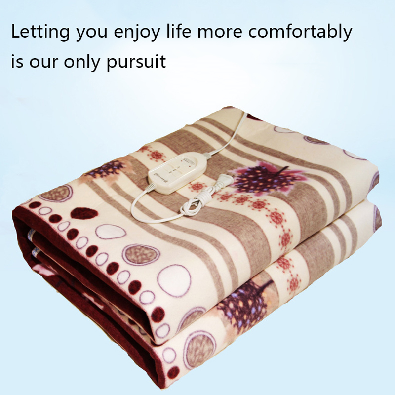 Plush Heated Blanket Security Electric Blanket Thicker Single Electric Mat Body Warmer Heater ForWinter Warm Mattress Bed